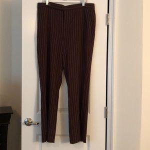 GW Brown striped Chaps Dress Pants